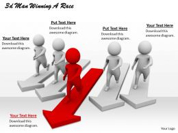 1013 3d Man Winning A Race Ppt Graphics Icons Powerpoint