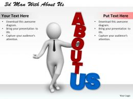 1013 3d Man With About Us Ppt Graphics Icons Powerpoint