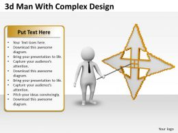 1013 3d Man With Complex Design Ppt Graphics Icons Powerpoint