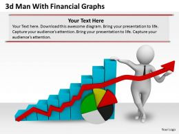 1013 3d Man With Financial Graphs Ppt Graphics Icons Powerpoint