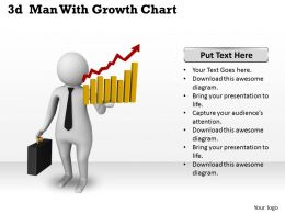 1013 3d Man With Growth Chart Ppt Graphics Icons Powerpoint