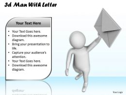 1013 3d Man With Letter Ppt Graphics Icons Powerpoint