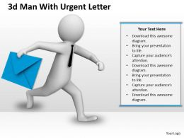 1013 3d Man With Urgent Letter Ppt Graphics Icons Powerpoint