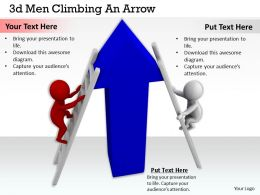 1013 3d Men Climbing An Arrow Ppt Graphics Icons Powerpoint