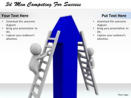 1013 3d Men Competing For Success Ppt Graphics Icons Powerpoint