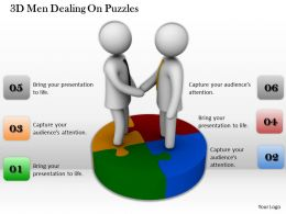 1013 3D Men Dealing On Puzzles Ppt Graphics Icons Powerpoint