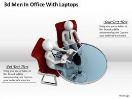 1013 3d Men In Office With Laptops Ppt Graphics Icons Powerpoint