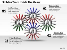 1013 3d Men Team Inside The Gears Ppt Graphics Icons Powerpoint
