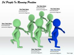 1013 3d People In Running Position Ppt Graphics Icons Powerpoint