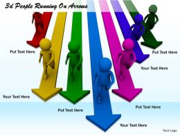 1013 3d People Running On Arrows Ppt Graphics Icons Powerpoint