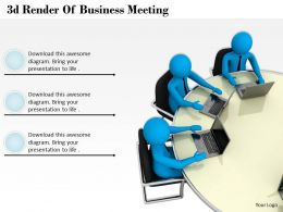 1013 3d Render Of Business Meeting Ppt Graphics Icons Powerpoint