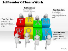 1013 3d Render Of Team Work Ppt Graphics Icons Powerpoint