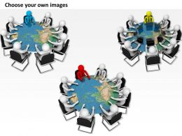 1013 3d Team Business Meeting Ppt Graphics Icons Powerpoint