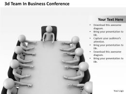 1013 3d Team In Business Conference Ppt Graphics Icons Powerpoint