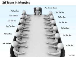 1013 3d Team In Meeting Ppt Graphics Icons Powerpoint