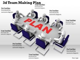 1013 3d Team Making Plan Ppt Graphics Icons Powerpoint