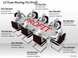 1013 3d Team Meeting For Profit Ppt Graphics Icons Powerpoint