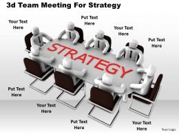 1013 3d Team Meeting For Strategy Ppt Graphics Icons Powerpoint