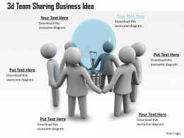1013 3d Team Sharing Business Idea Ppt Graphics Icons Powerpoint