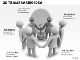 1013 3d Team Sharing Idea Ppt Graphics Icons Powerpoint