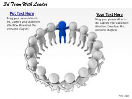 1013 3d Team With Leader Ppt Graphics Icons Powerpoint