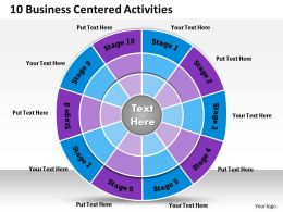 1013 Busines Ppt diagram 10 Business Centered Activities Powerpoint Template