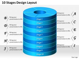 1013 Busines Ppt diagram 10 Stages Design Layout Powerpoint Template