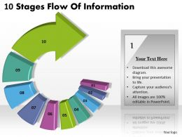 1013 Busines Ppt diagram 10 Stages Flow Of Infoirmation Powerpoint Template