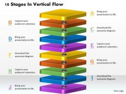 1013 Busines Ppt diagram 10 Stages In Vertical Flow Powerpoint Template