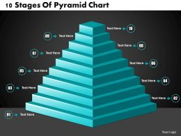 1013 Busines Ppt diagram 10 Stages Of Pyramid Chart Powerpoint Template
