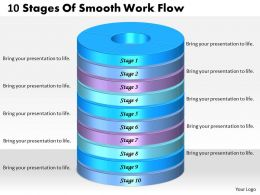 1013 Busines Ppt diagram 10 Stages Of Smooth Work Flow Powerpoint Template