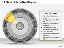 1013 Busines Ppt diagram 11 Stages Interactive Diagram Powerpoint Template
