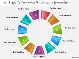 1013 Busines Ppt diagram 11 Steps To Organize Business Information Powerpoint Template