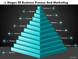 1013 Busines Ppt diagram 12 Stages Of Business Process And Marketing Powerpoint Template