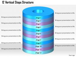 1013_busines_ppt_diagram_12_vertical_steps_structure_powerpoint_template_Slide01