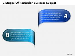 1013 Busines Ppt diagram 2 Stages Of Particular Business Subject Powerpoint Template