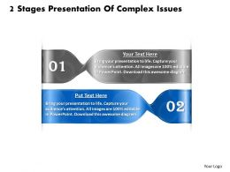 1013 Busines Ppt diagram 2 Stages Presentation Of Complex Issues Powerpoint Template