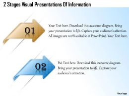 1013 Busines Ppt diagram 2 Stages Visual Presentations Of Information Powerpoint Template