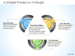 1013 Busines Ppt diagram 3 Staged Process In Triangle Powerpoint Template