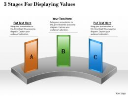 1013 Busines Ppt diagram 3 Stages For Displaying Values Powerpoint Template