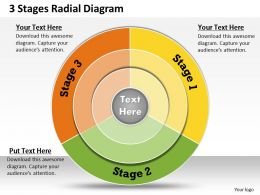 1013 Busines Ppt diagram 3 Stages Radial Diagram Powerpoint Template