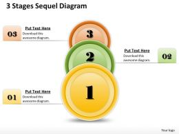 1013 Busines Ppt diagram 3 Stages Sequel Diagram Powerpoint Template