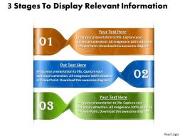 1013 Busines Ppt diagram 3 Stages To Display Relevent Information Powerpoint Template