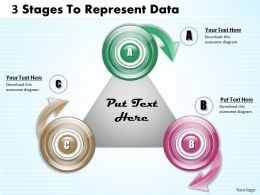 1013 Busines Ppt diagram 3 Stages To Represent Data Powerpoint Template