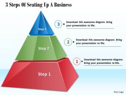 1013 Busines Ppt diagram 3 Steps Of Seating Up A Business Powerpoint Template