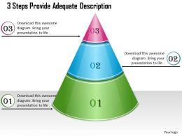 1013 Busines Ppt diagram 3 Steps Provide Adequate Description Powerpoint Template