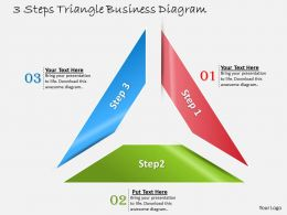 1013 Business Ppt diagram 3 Steps Triangle Business diagram Powerpoint Template