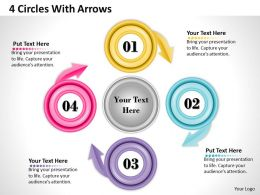 1013 Busines Ppt diagram 4 Circles With Arrows Powerpoint Template