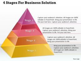 95617043 Style Layered Pyramid 4 Piece Powerpoint Presentation Diagram Infographic Slide