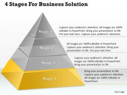 1013 Busines Ppt diagram 4 Stages For Business Solution Powerpoint Template